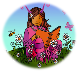 image of Girl Scout in a field